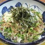 蕎麦太郎カフェ - (冷)手打ち麦切り