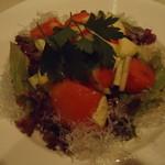 旬鮮炭火焼 獺祭 - 水茄子とトマトのサラダ