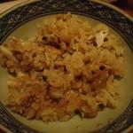 旬鮮炭火焼 獺祭 - 焼き鯖炊き込みご飯