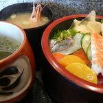 三河屋鮨 - とてもリーズナブルなランチのチラシです!おみそ汁もつきますよ!!