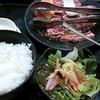 安楽亭 - 料理写真:焼肉ランチ!お肉の量が150gで724円 中落ちカルビ!