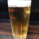 ヤキソバ伊達 - ビール(焼そばで一杯セット)
