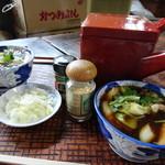 古久や - 蕎麦湯ならぬ饂飩湯も提供