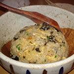 瑚庵 - 料理写真:明日葉の佃煮チャーハン