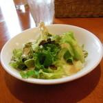 サニイサイド - 和風ハンバーグにセットのサラダ
