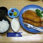漣 - 大海老フライ定食(2940円)