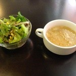 洋食屋キッチンKAZU - サラダとスープ
