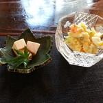 わたしの台所 和 - 料理写真:高野豆腐とポテトサラダ