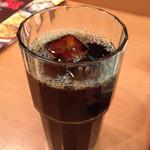 中華食堂 紅龍 - 日替りランチについてくるアイスコーヒー