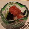 板前心 菊うら - 料理写真:お通し (蛸 と はす芋、梅と玉葱のソースがけ) (2013/08)