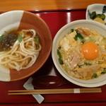 鳥彌三 あざみ - 親子丼 小うどんセット1100円