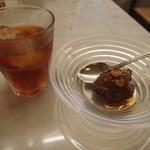 TRATTORIA AL SODO  - ランチドリンク&ランチドルチェ(チョコレートプリン)