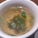 明月館 - ビビンバセットのスープ