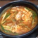 明月館 - 焼肉セットのスープ