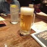 ステーキ カフェ ケネディ - 最初はビール