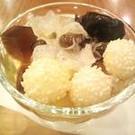 神楽坂 龍公亭 - 中国茶あんみつ(550円)