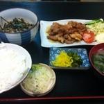 岩月家 - 豚の生姜焼き御膳 850円