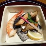 鉄板懐石 宴 - 2013.08 鰆、海老、海鮮盛合せ