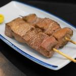 ミツワ - 2013.8 レバ(肝臓)塩若焼き(1串100円)
