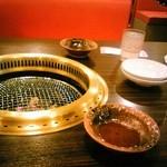 一升びん - 店内テーブル焼き網