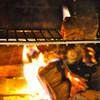 イル ガシーヨ - 内観写真:暖炉で、薪焼き