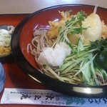 大正庵 - 料理写真:冷やしおろし天ぷらそば(海老)