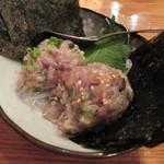 魚金 - 580円『なめろう(鯵) (味噌味と塩味)』2013年8月吉日