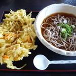 食膳場森脇  - 料理写真:ごぼう天そば(冷)850円