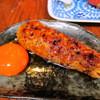 鐵の家 - 料理写真:一番人気!!備長炭卵黄つくね!!愛情込めた手作りの逸品です。濃厚な卵黄に絡めてお召し上がり下さい。