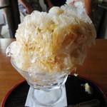 朱雀 - 料理写真:カフェオレのかき氷