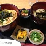 薩摩うどん - 親子丼のセット(冷たいうどん付)