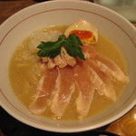麺と心 7 - 冷やし鮎白湯らーめん900円