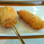 串揚げ ゆらゆら - 料理写真:「太刀魚」と「豚ヒレ」です。