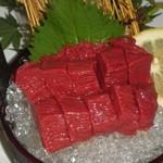 さくら鍋 鶴我 - 料理写真:会津ブランド馬刺し 最高級赤身刺し