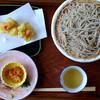 日野宿 ちばい - 料理写真:塩味で食べる蕎麦+掻き揚げ(別注文)