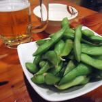 立ち呑み ぐいっと - 「枝豆」400円也。