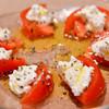 青食 - 料理写真:トマトとクリームチーズ