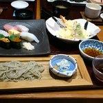 一幸 - 1,680円のランチ 寿司、天麩羅、そば