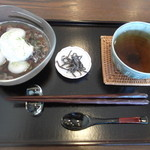 カフェ タブノキ - 白玉冷しぜんざいと、ほうじ茶。