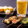 串焼 しばてん - 料理写真:元祖晩酌セット(1050円)
