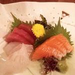 まかない包丁 - 旬の鮮魚造里三種盛