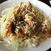 オープン フェイス パーク - 料理写真:鶏マヨ丼☆  今日は三重で波乗りなうw!お昼はちょっとジャンキーな感じで〜!(๑´ڡ`๑)