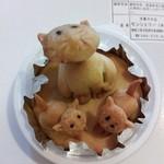 モンシェリー - ネコのおやこクッキー350円。