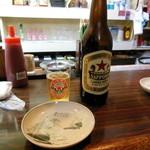 藤原 - ビール - グラスが特徴的