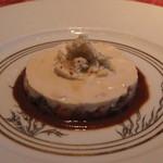 キノシタ - カリフラワーのムース ズワイ蟹 と 車海老 濃厚なエビのソースで (2013/08)