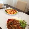 トラットリア クオーレ - 料理写真:オムライスとカレーライス(大盛り)