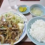 たけいし - ・「生姜焼き定食(\580)」