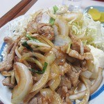 たけいし - ・「生姜焼き定食(\580)」のアップ。