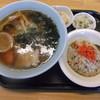 味のあらし - 料理写真:ラーメンセット(正油らーめん)700円 味のあらし 登別