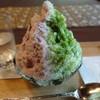 壺中庵 - 料理写真:宇治抹茶・北海道チーズとハスカップのシロップ、抹茶わらび餅と北海道産あずきをトッピング
